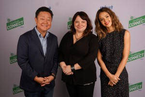 Melissa with Jessica Alba and Brian Lee at QB connect 2015